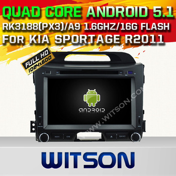 WITSON Android 5.1 CAR DVD For KIA SPORTAGE R2011 WITH CHIPSET 1080P 16G ROM WIFI 3G INTERNET DVR SUPPORT