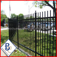 high quality Low Price Beautiful 3 Rail Garden Fence