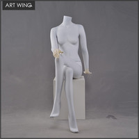 Headless siting clothes mannequin