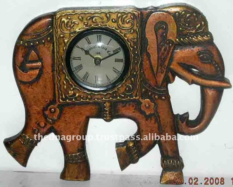 antique home docor wooden table clocks