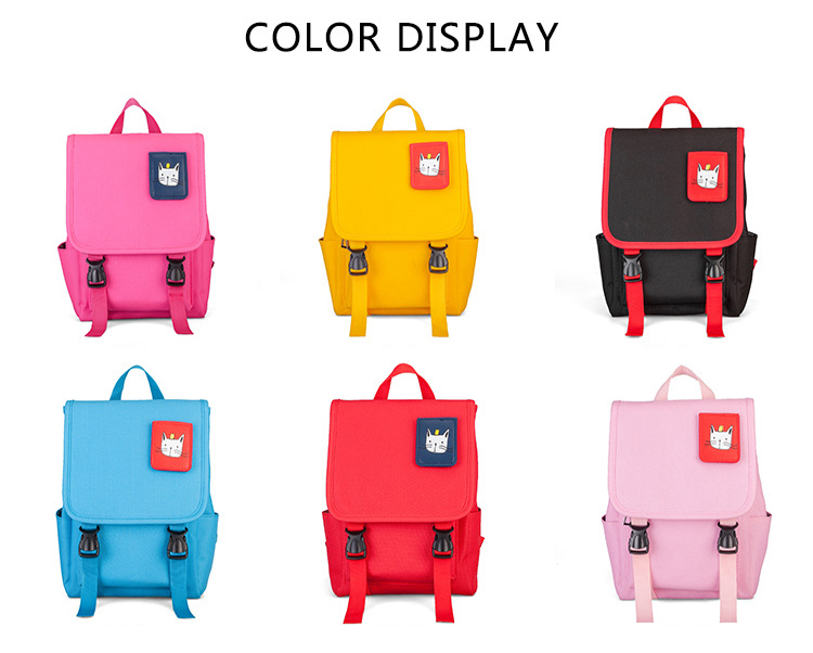 Cartoon waterproof Canvas anti-lost Girls Boys backpack Lovely cat design child kids School bag