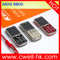 Small Size quad band gsm 850 900 1800 1900 mhz Feature mobile phone MINI 8800