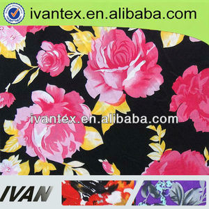 2015 Fashion new design pretty soft shaoxing manufacturer polyester spandex single jersey fabric