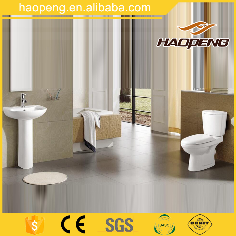 Sanitary Ware Two Piece S/P-Trap washdown Toilet