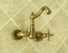 UPC Tuscany faucets dual handles antique brass kitchen sink mixers taps