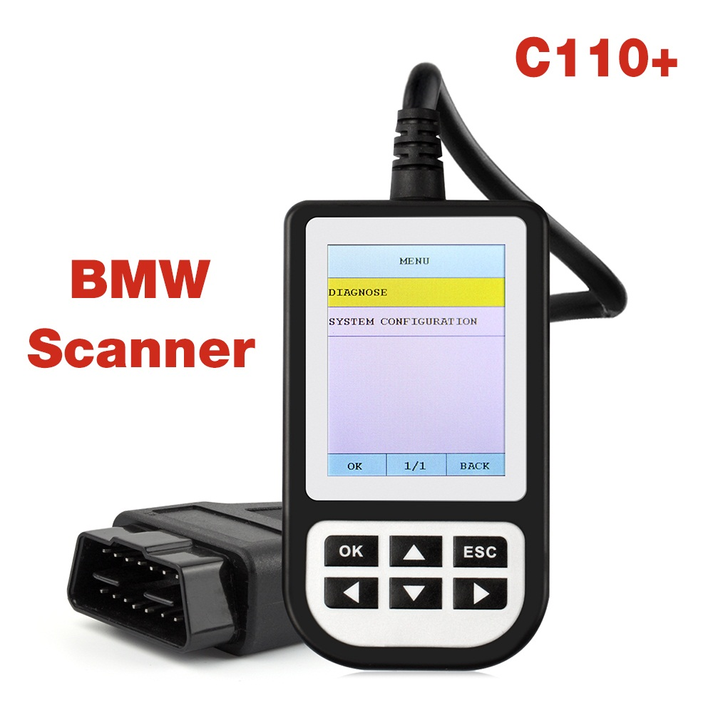 New OBD2 Diagnostic Scanner C110+ for B M W e46 Engine Handheld Code Reader for B M W e90 e39 ABS SRS Air bag Full Scan tool