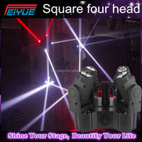 High brightness new 4 heads 10w white mini led beam moving head light/ single head moving light