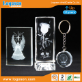 3d Led Crystal Souvenirs London Eye/Paris Rose/Angel Crystal Ornaments 3d Laser Crystal with Led Light Base