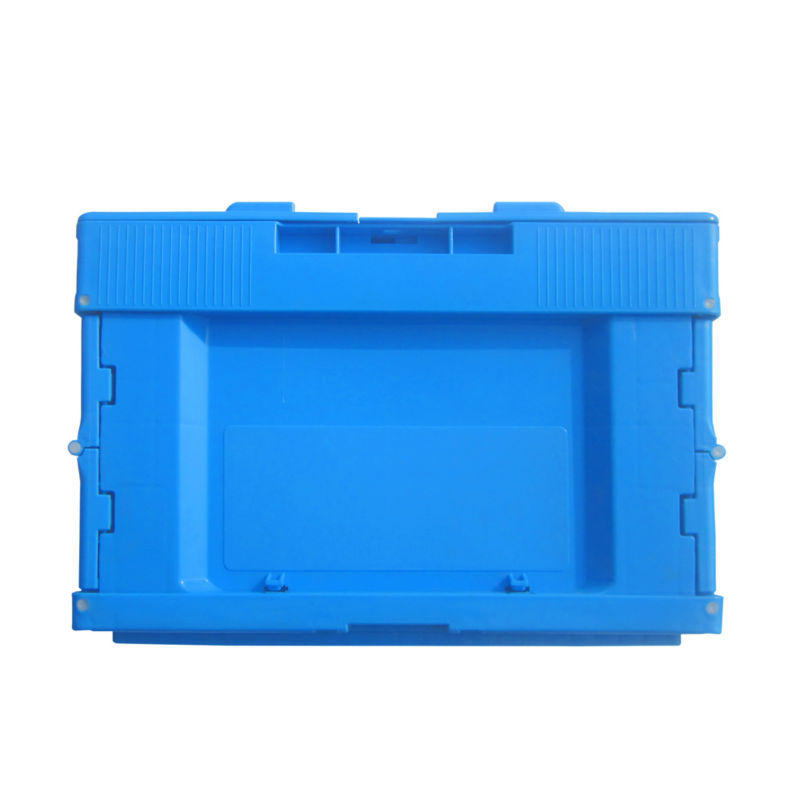 47L folding (collapsible) vented plastic crate with ergonomic lock handles for produce growers and distributors