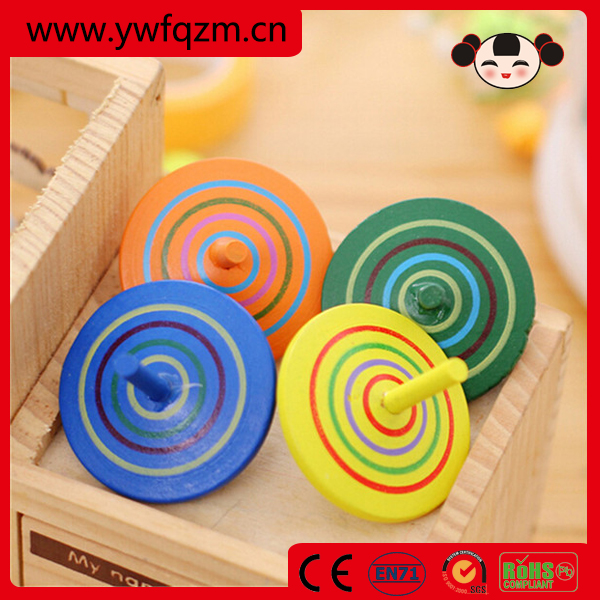 promotional chinese wooden toy pinning top
