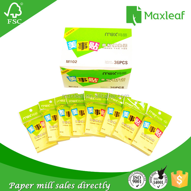 Most popular products china 3*3 inch 75gsm self-stick sticky note