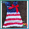 4th July Dresses 2013 Newest Style Blue star dresses Cute baby Dresses 2013 baby boutique wholesale