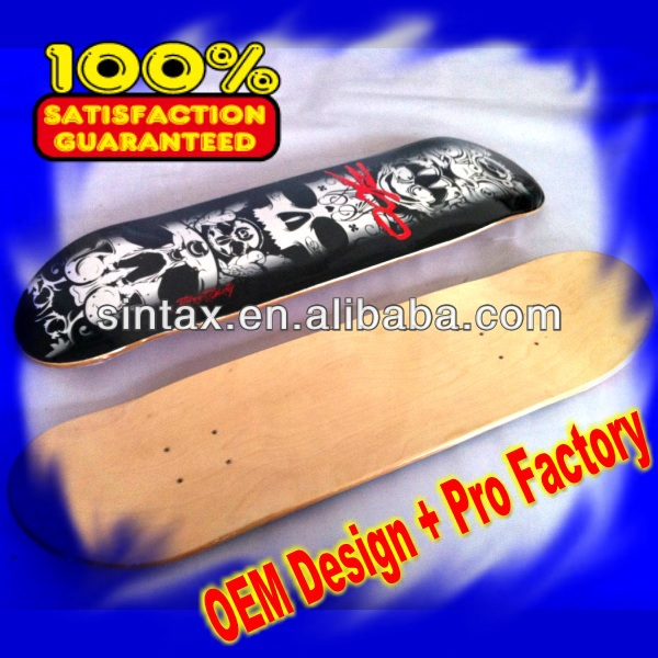 Canadian Maple BLANK SKATEBOARD DECK(Pro Design)