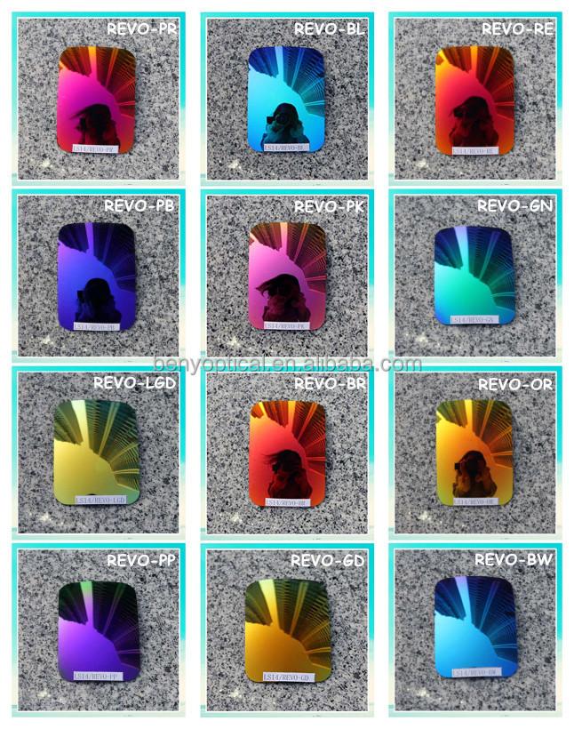 UV400 폴리 카보네이트 블루 그라데이션 색상 교체 렌즈 중국 광학 공장