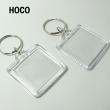 Promotional Clear Custom Blank Souvenir Plastic Photo Frame Key Chain Picture Insert LOGO