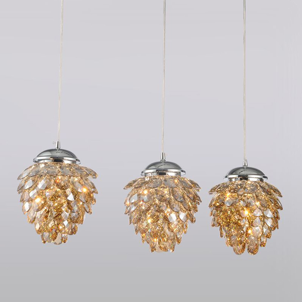 North European Style Classical Vintage Round Crystal Ceiling Lighting Crystal Chandelier Pendant Hanging Lamp