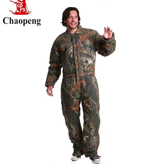 Custom factory manufacture Camouflage style coverall winter cotton construction worker uniform workwear