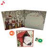 Top quality red customized music invitation Christmas card