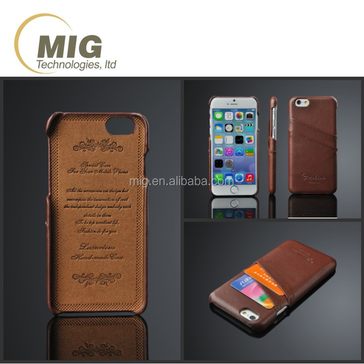 Fashional Litchi pattern genuine real leather mobile phone back case cover for iphone 6 6s plus 7 7 plus For samsung note 4 5