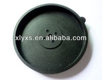 Black Molded Silicone Products Manufacture / Hard EPDM Rubber Spacer