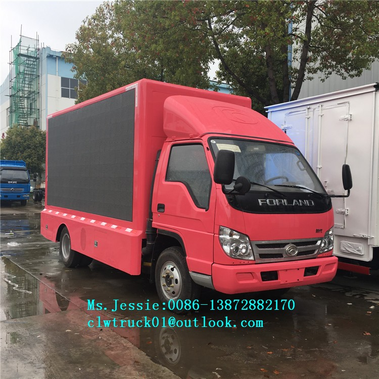 Factory direct sales FOTON LED screen advertising truck