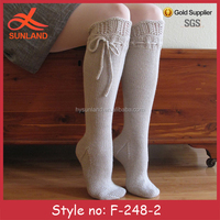 F-248 new sweet fancy knee high white socks