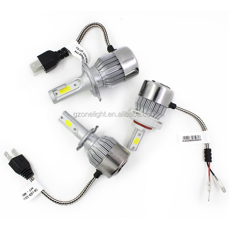 Onelight C6 H3 All-in-one 36W LED Headlights H4 led headlight