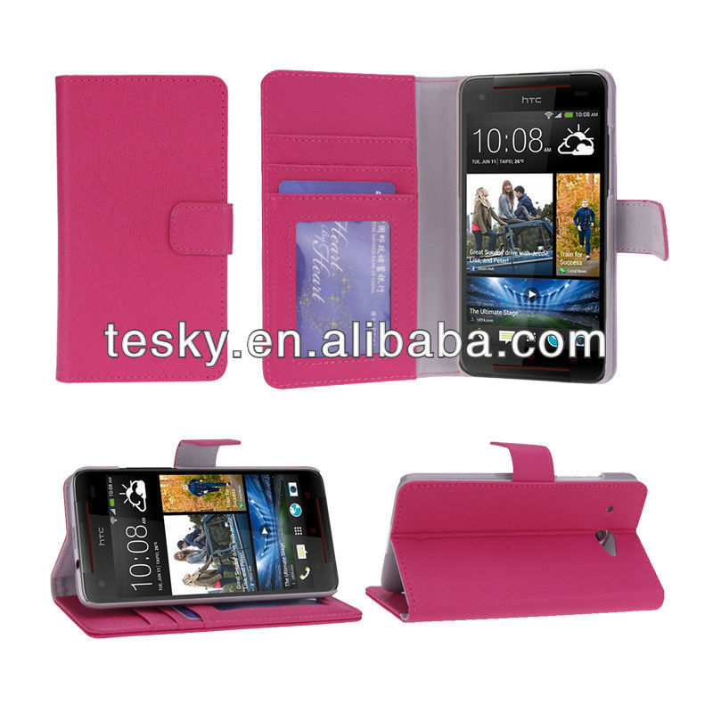 pu leather wallet case for the new htc butterfly s case
