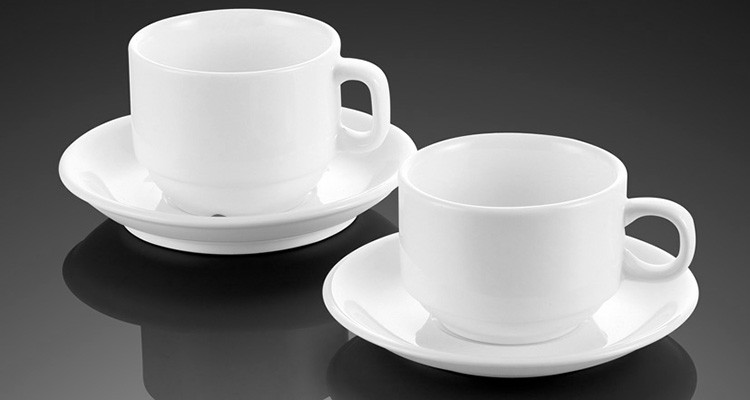 Demitasse Small Color Glazed Ceramic Coffee Tea Cups and Saucers Sets