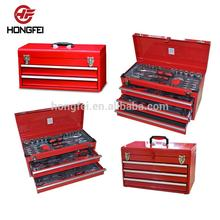 Hongfei 3 Drawer Metal Tool Box with Box Tool
