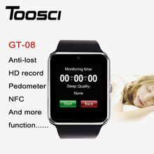 GT-08 single slot GSM unlocked high quality wristband touch screen bluetooth Android hand watch mobile phone