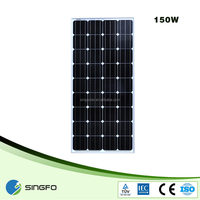cheap pv solar penel grade A 150w solar panel manufacturer in China for india