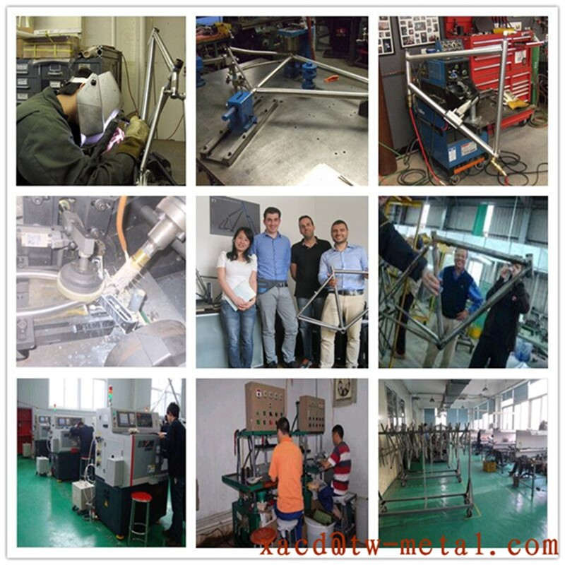 Customized Titanium Road Bike Frame High Quality Ti road bicycle frame with S&S coupler XACD 700c Ti road bike frame