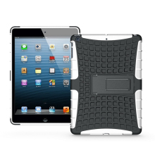 Hybrid tire kickstand case for ipad air , heavy duty case for ipad 5 with stand