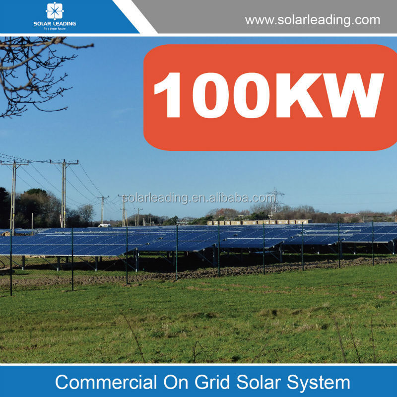 100KW high efficency solar energy system /solar system for home / 100KW solar on grid power system(with free shippment)
