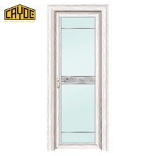 Super mute hotel door simple style frame aluminum tempered glass door