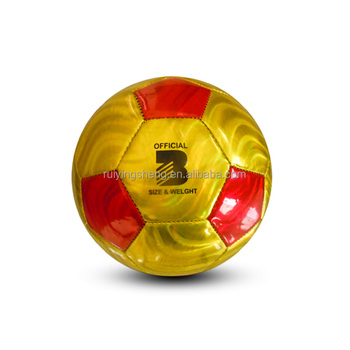 Shiny PVC leather soccer balls