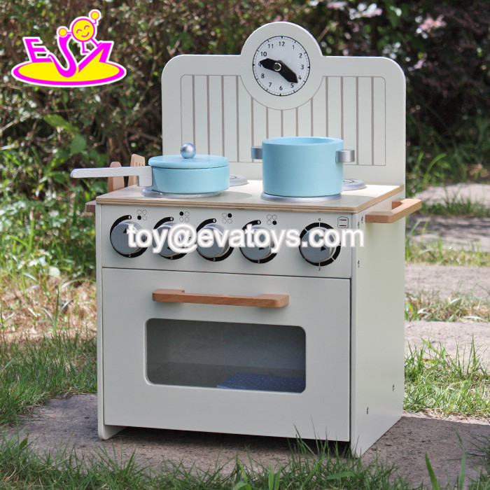 new design fashion kids wooden miniature toy kitchen play set W10C213