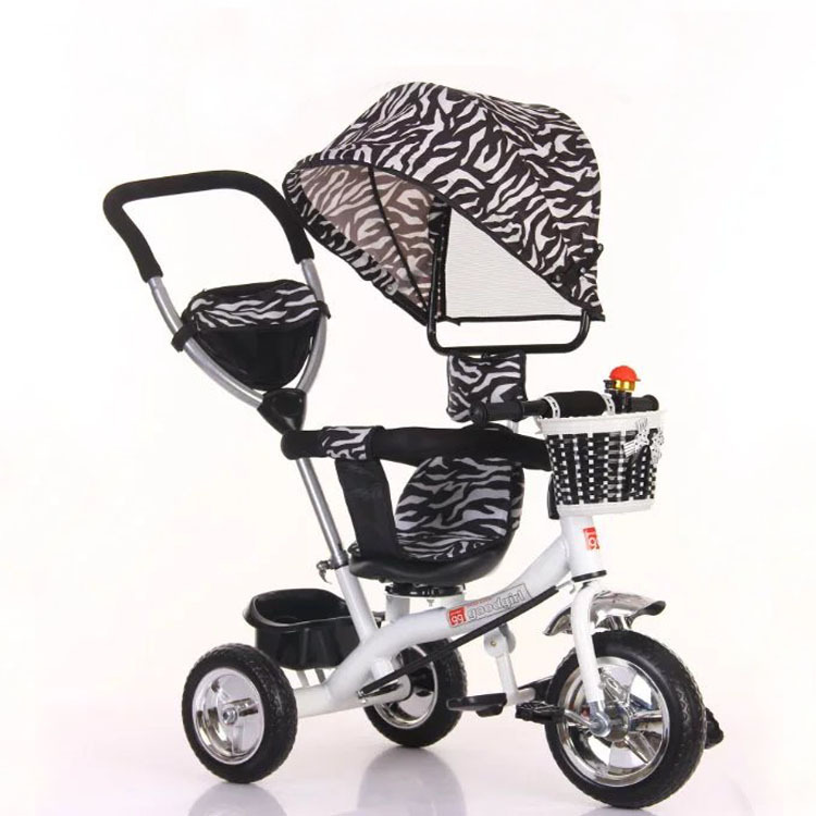2017 high quality new design baby carriage tricycle for kids with handle all child love .