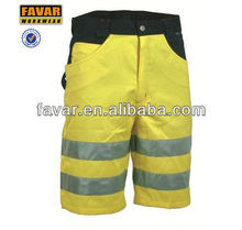 hi vis safety working short pants men wear half trousers