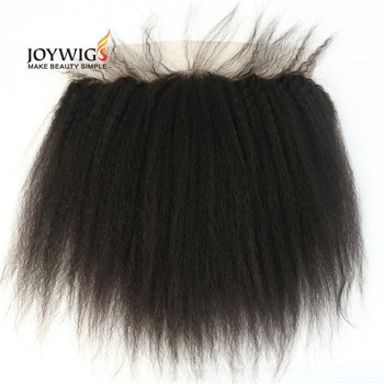 Qingdao Factory new style 10A grade Indian human hair 130% density natural color yaki straight lace frontal