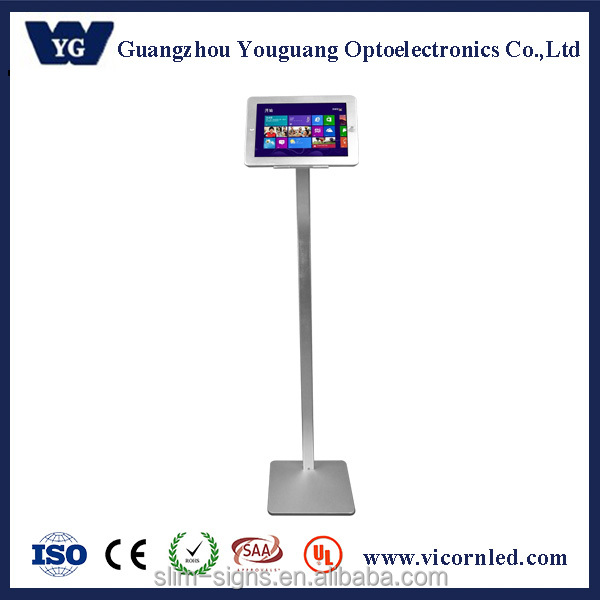360 degree rotated iPad Kiosk Display Floor Stand,Security Floor iPad Display Stand