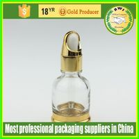 packaging 20ml transparent American nicotine-liquid glass bottle with black or white childproof &tamper cap