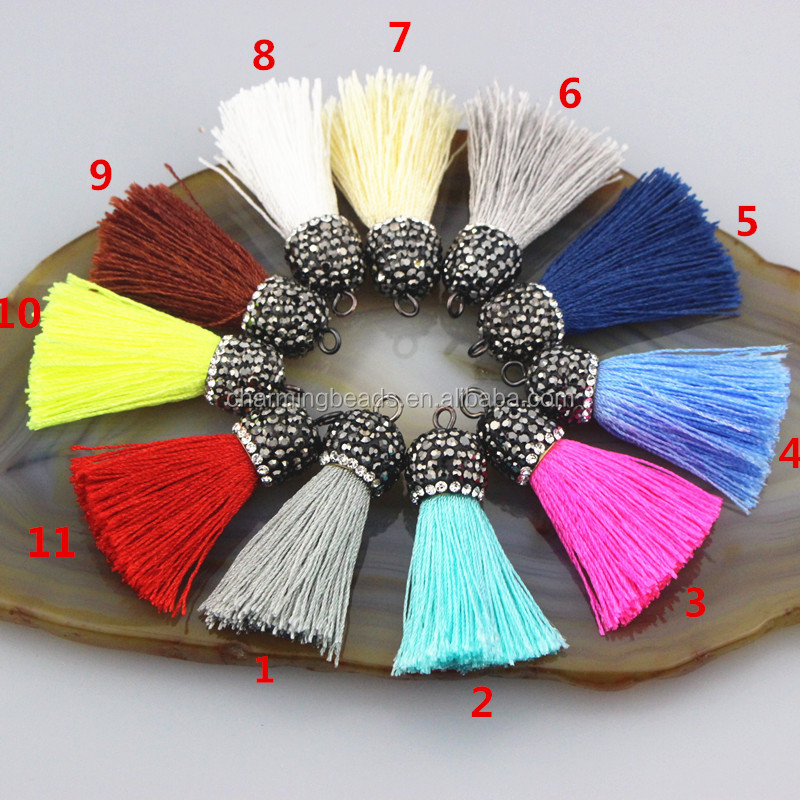 CH-CME0029 Newest cords tassel jewelry for earring making multi color tassels fashion handmade cords tassel wholesale