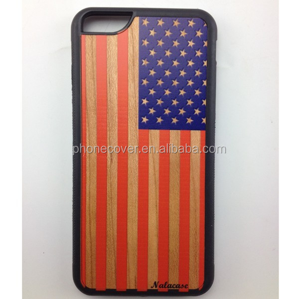 Wholesale bulk cell phone case,wood+pc hybrid case for iphone