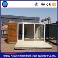 wooden and Sandwich panel container 20ft office mobile conference room