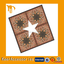 Fashion designs printed silk hanky,silk handkerchief