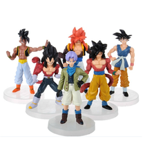 6pcs/set 12cm Anime Dragon Ball Z Vinyl figurine Son Goku Gogeta Super Saiyan Collection Action Figures Model PVC Toy