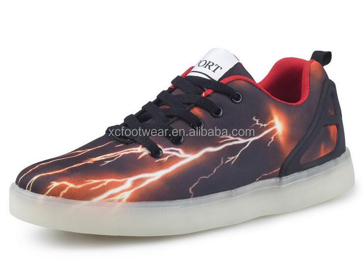 SML005 men fashion new design colorful LED sport skate shoes