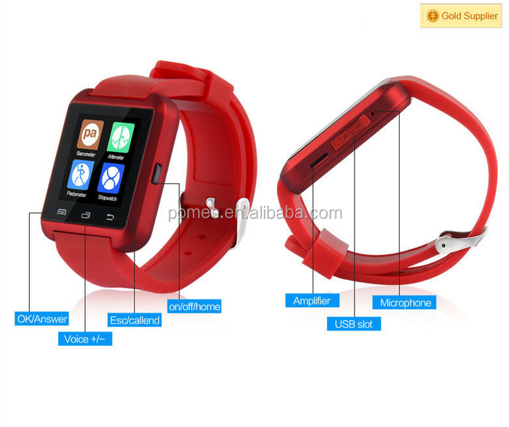 Newest U8 smart watch Factory price cheap outdoor Bluetooth Android 4.0 watch
